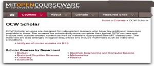 OCW Scholar | MIT OpenCourseWare
